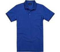 Herren Polo-Shirt, Baumwoll-Pique, blau