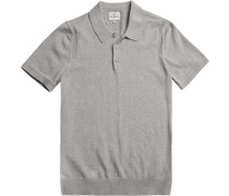 Herren Polo-Shirt Modern Fit Baumwolle hellgrau meliert