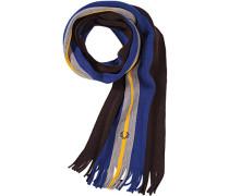 Herren FRED PERRY Schal Wolle braun-blau gestreift blau,braun