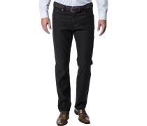Herren Jeans Regular Fit Baumwoll-Stretch schwarz