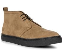 Herren Schuhe Desert-Boots Veloursleder beige