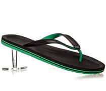 Herren Schuhe Zehensandalen Gummi schwarz-grün