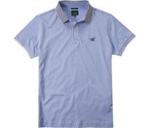 Herren Polo-Shirt Slim Fit Baumwoll-Jersey hellblau