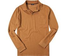Herren Polo-Shirt Baumwoll-Jersey orange meliert