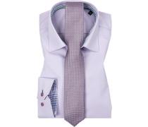 Herren Hemd mit Krawatte lila