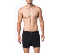 Herren Unterwäsche Boxershorts Baumwolle schwarz gemustert