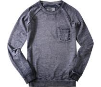Herren Sweatshirt Baumwoll-Mix navy meliert