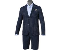 Anzug, Baumwolle-Leinen halbgefüttert