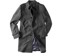 Herren Mantel Cibilton Wolle anthrazit gemustert Grau