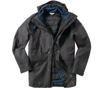 Herren Drei-in-eins-Mantel Baumwolle MTD®-Technologie anthrazit grau