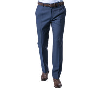 Herren Hose Shape Fit Schurwolle Super100 blau