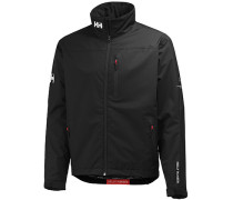 Herren Crew Midlayer Jacke, Regular Fit, Funktionsmaterial, schwarz