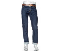 Herren Jeans Regular Slim Fit Baumwoll-Stretch ecorepel® dunkel