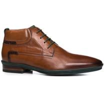 Herren Schuhe Stiefeletten Kalbleder cognac braun