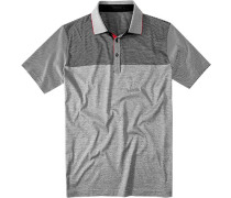 Herren Polo-Shirt Baumwoll-Jersey navy-weiß gestreift