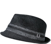 Herren Hut, Wolle, anthrazit gemustert grau