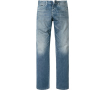 Herren Jeans Slim Straight Baumwolle blau