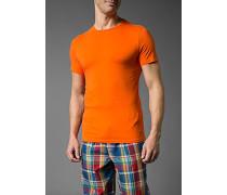 Herren T-Shirt Baumwoll-Stretch orange