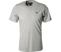 T-Shirt Tailored Fit Baumwolle hell meliert