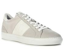 Schuhe Sneaker Veloursleder ecru-offwithe