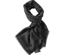 Herren Schal Wolle schoko-schwarz gemustert