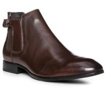 Herren Schuhe Chelsea Boots Leder braun
