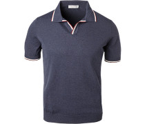 Polo-Shirt, Baumwoll-Strick, navy