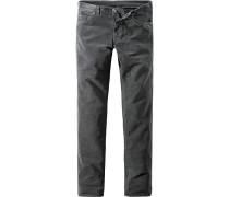 Herren Jeans Slim Fit Baumwoll-Stretch dunkelgrau