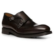 Schuhe Monkstrap, Kalbleder, dunkel