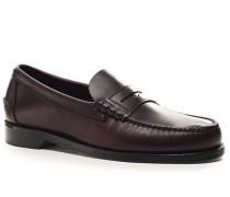 Herren Schuhe Loafers Rindleder dunkel