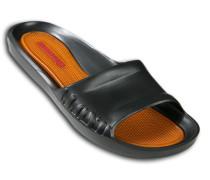 Herren Schuhe BEACH, Gummi, schwarz-rotorange