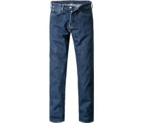Herren Jeans Original Fit Baumwolle dunkelblau