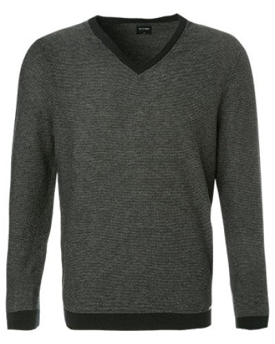 Pullover, Modern Fit, Wolle, anthrazit