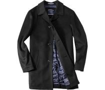 Herren Mantel Pontius Regular Fit Wolle-Mix wattiert schwarz schwarz,blau
