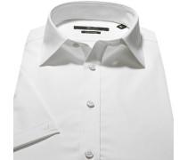 Herren Hemd, Stretch-Popeline, weiß