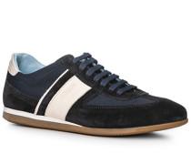 Herren Schuhe Sneaker, Verloursleder-Textil, blau