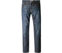 Herren Jeans Super Slim Fit Baumwoll-Stretch dunkelblau