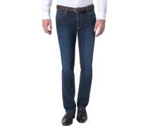 Herren Jeans Baumwoll-Mix dunkelblau