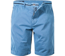 Herren Hose Shorts Comfort Fit Baumwolle pastellblau