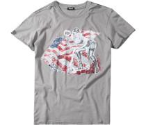 Herren T-Shirt, Baumwolle, grau