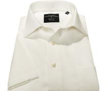 Herren Hemd, Modern Fit, Chambray, offwhite weiß