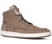 Herren Schuhe Sneaker, Veloursleder, taupe grau