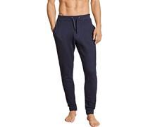 Schlafanzug Jogpants Baumwolle navy