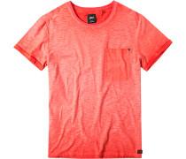 Herren T-Shirt, leuchtorange