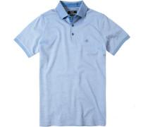 Herren Polo-Shirt Baumwoll-Piqué himmelblau meliert