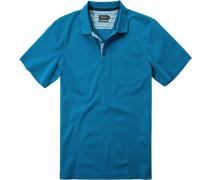 Herren Polo-Shirt Baumwoll-Piqué petrol