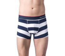 Herren Unterwäsche Trunk Baumwoll-Stretch Blau-weiß gestreift blau