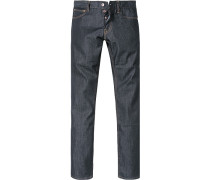 Herren Jeans, Slim Fit, Baumwolle 10 oz wasserabweisend, dunkelblau