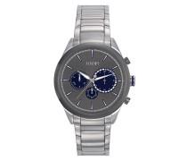 Herren Uhren Chronograph Edelstahl grau