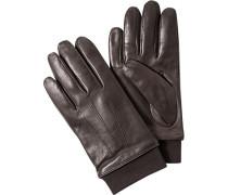 Herren Handschuhe Lammleder dunkel